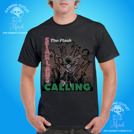 STAR Labs Calling The Flash Mens T-Shirt - The Clash Mashup